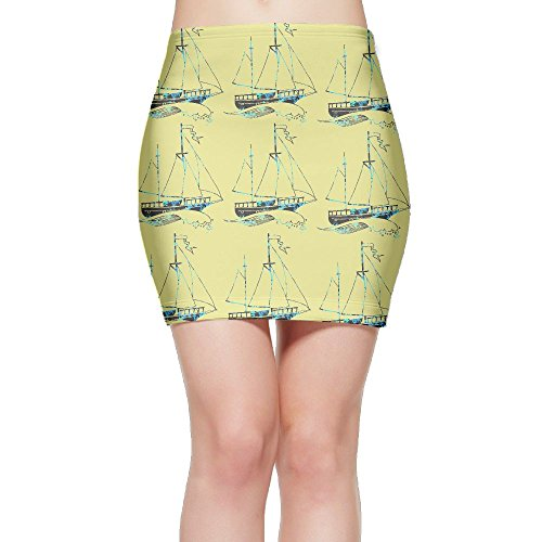 SKIRTS WWE Craft Boat Womens Slim Fit High Waisted Mini Short Skirt by SKIRTS WWE