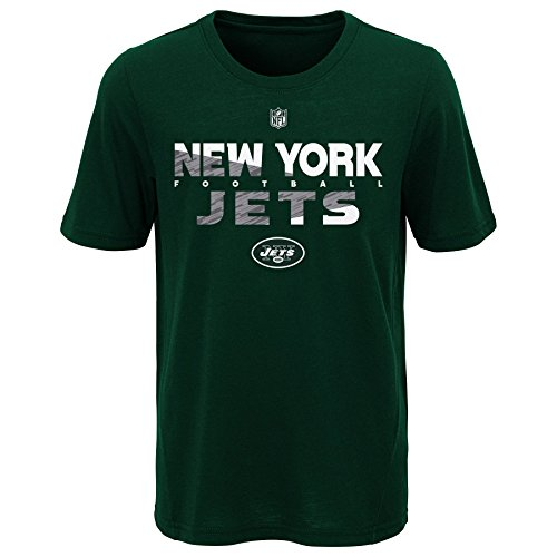 Outerstuff NFL NFL New York Jets Youth Boys Flux Short Sleeve Ultra Tee Hunter Green, Youth Medium(10-12)