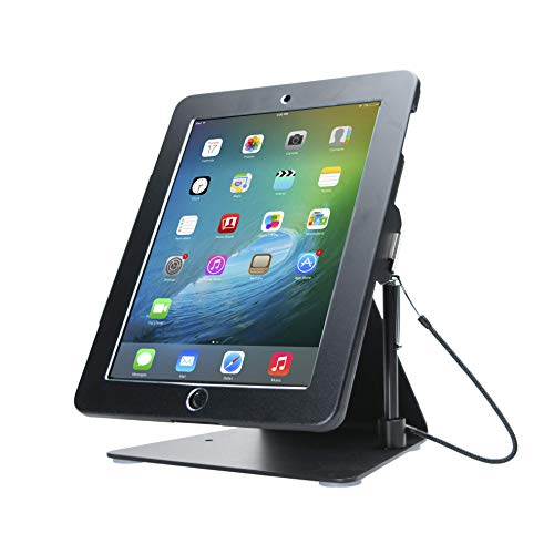 CTA Digital PAD-DASB Desktop Anti-Theft iPad Stand, Black ()