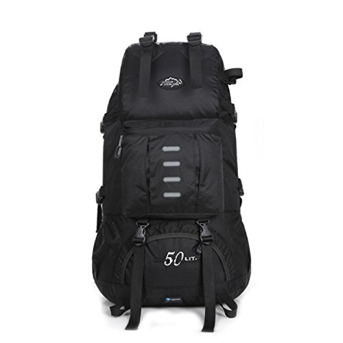 Local Lion 50L Outdoor Sports Hiking Daypack Cycling Backpack Unisex, Black