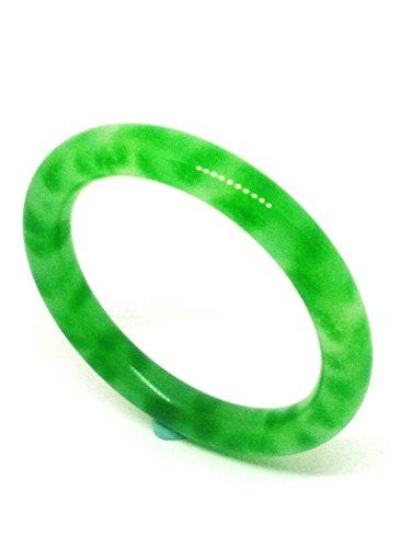 Round Ring Jade Pendant - Vintage Round Natural Green Jade Gemstone Bangle