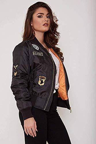 Bomber Vert Uni Femme Doudoune Amandine CAdulte Motard Veste Adolescent Universitaire Simple Manteau Veste 355 aYqfZwH