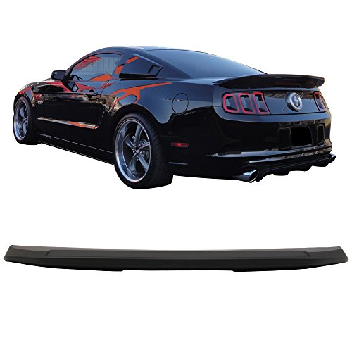 Trunk Spoiler Fits 2010-2014 Ford Mustang | GT500 Shelby 1PC Style ABS Unpainted Trunk Boot Lip Spoiler Wing Deck Lid By IKON MOTORSPORTS | 2011 2012 2013 ()