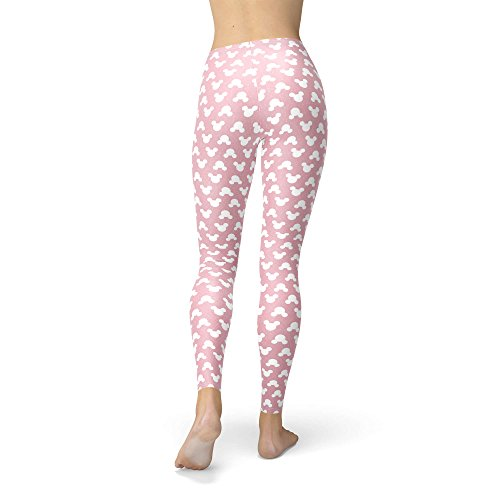 Mickey Mouse lunares rosa forro polar Leggings XS-3X L
