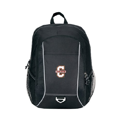 College of Charleston Atlas Black Computer Backpack 'Official Logo - C Charleston' by CollegeFanGear