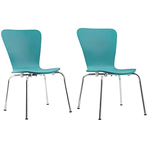 Contemporary Curved Design Kids Bentwood Chair, Set of 2, Blue by BHG