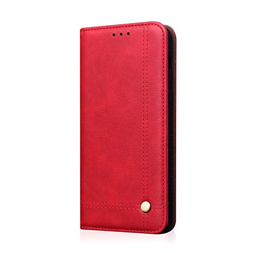 Galaxy S10 Wallet Cover 2019,TACOO Leather Slim Fit Kickstand Fold Card Money Slot Protective Girl Women Phone Red Case Shell for Samsung S10 6.1inches 2019 (Hello Kitty Neo Phone)