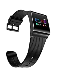 Colorfol LED Smart Wrist Watch X9 Pro HR Bluetooth 4.0 Bracelet Sport Watches for Android /iOS (Black)