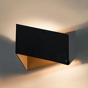 QAZQA Design/Modern / Wandleuchte Fold Schwarz Mit Gold/Messing /  Innenbeleuchtung/Wohnzimmer