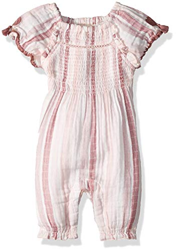- Hatley Baby Girls Mini Rompers, Pink Stripes, 12-18 Months