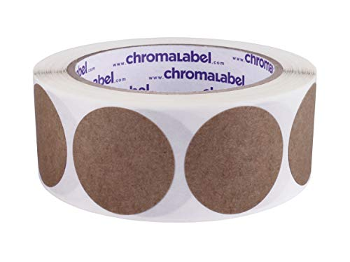 ChromaLabel Kraft Dot Labels | 500/Roll (1-1/2 inch)]()