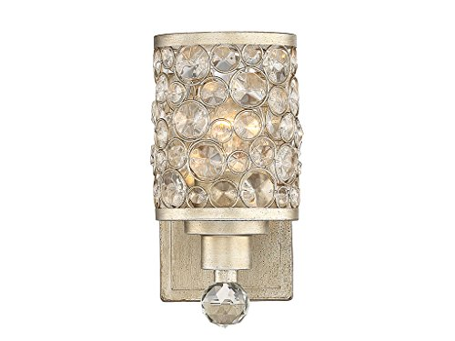 Bathroom Vanity 1 Light with Aurora Finished Metal/Glass E Bulb 5 inch 100 -