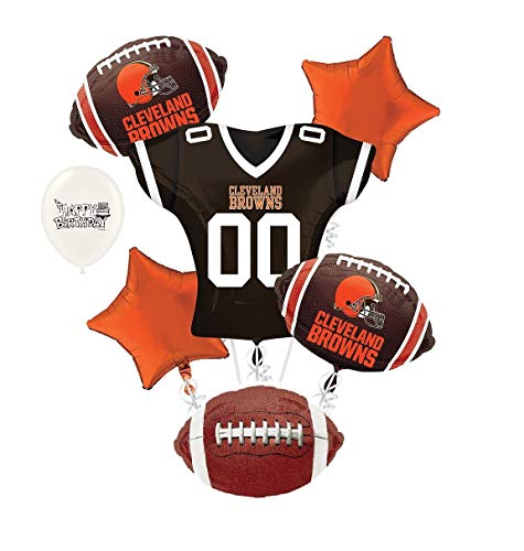Cleveland Browns NFL Football Party Balloon Bouquet Bundle