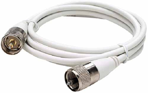 Seachoice Antenna (COAXIAL ANTENNA CABLE 20 feet, with connectors)