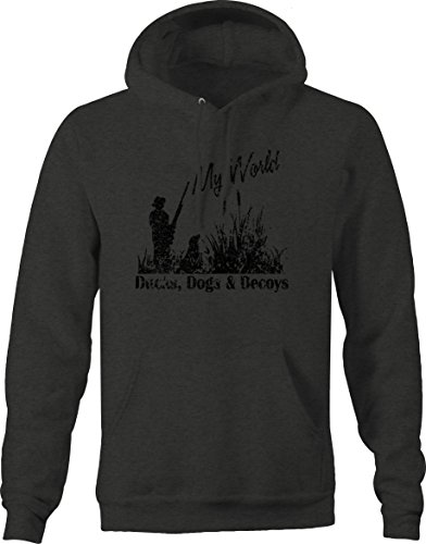 Lifestyle Graphix Distressed - Ducks, Dogs, DECOYSMy Worldwaterfowl Hunting Sweatshirt - XLarge