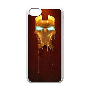 Iron Man Mask iPhone 5c Cell Phone Case White phone component RT_171937