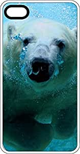 Polar Bear Swimming Clear Plastic Case for Apple iPhone 4 or iPhone 4s