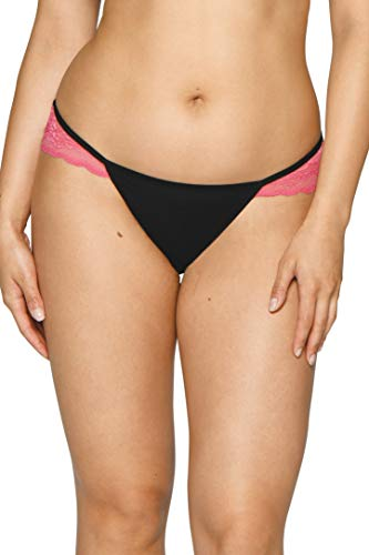 Curvy Kate Junior's in in Love with Lace Brazilian, Black/Pink, 14