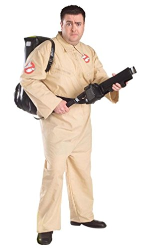 [Ghostbusters Costume - Plus Size - Chest Size 46-50] (Ghostbusters Plus Size Costumes)