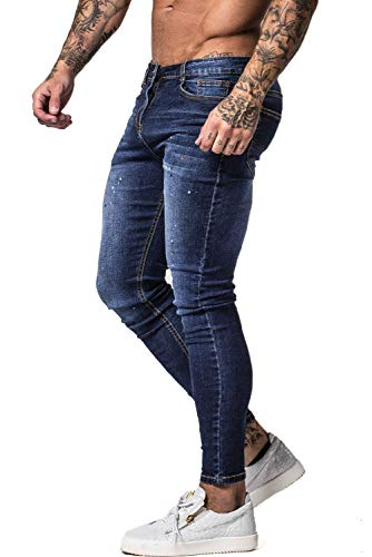 GINGTTO Skinny Jeans for Men Stretch Jeans Slim Fit Jeans Pants Blue 30