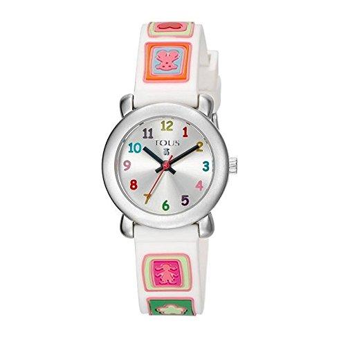 RELOJ TOUS SIXTIES ACERO SILICONA BLANCA NIÑA 300350430: Amazon.es: Relojes
