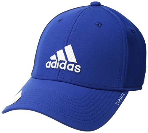 (adidas Men's Franchise Structured Stretch Fit Cap, collegiate royal/white, S/M)