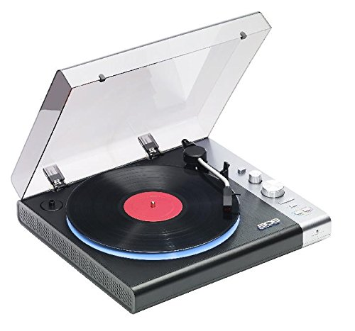 Wireless Streaming Turntable – Belt Driven, Stereo, Bluetooth Turntable with 10 LED Light Modes and Built In Vinyl Pre-Amp for Superior Sound