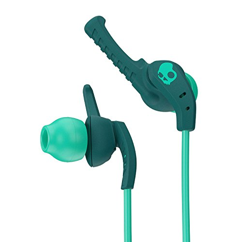 Skullcandy XTplyo In-Ear Sport Earbuds with Mic, Teal/Green