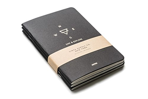 Explore Notes - Travel Notebooks - Black 3-Pack Photo #2
