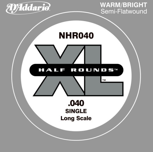 Flatwound Single - D'Addario Single Bass Half Rnd 040 Long