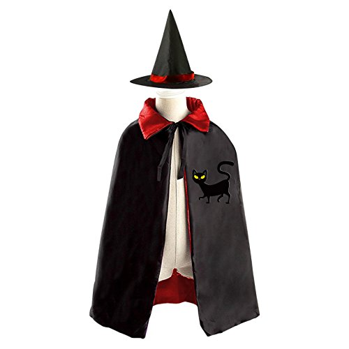 Carefree Cat Reversible Robe Cloak and Hat in Halloween Fancy Ball