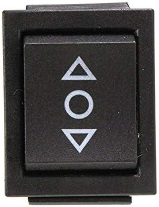 12 V 2-poliger Umschalter 2 Wipptaster 6-Pin-Schalter elektrische Fensterheber f/ür Antenne AC 250 V // 16 A Schiebed/ächer