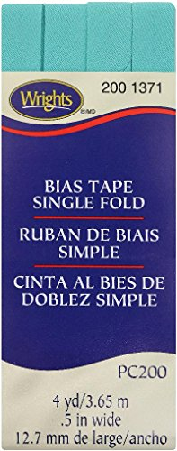 (Wrights Aquamarine II Single Fold Bias Tape 1/2