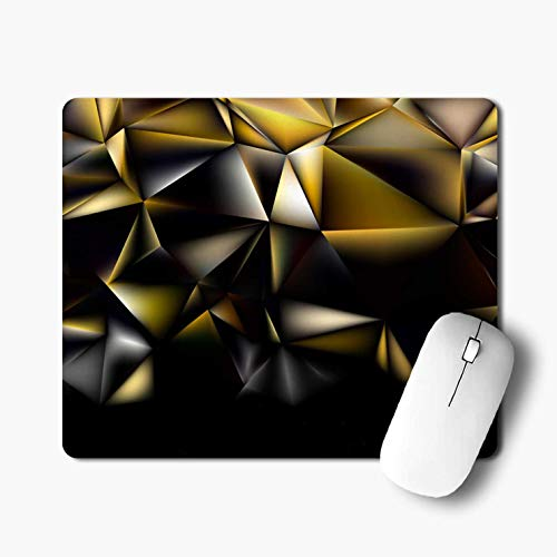 iKraft Golden Rectangle Non-Slip Rubber Mouse Pad-Pack of 1 Printed Mouse Pad for Desktop and Laptop Computer