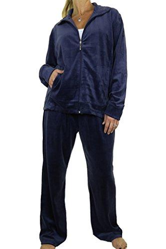 ICE (6475-2) Encuadre de marca mujer Chándal de grandes pechos más el tamaño Calidad Terciopelo Azul marino