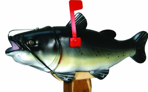 River's Edge Products Catfish Mailbox with Tamper Proof Mounting - Mailbox Gift