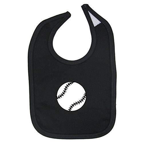 Mashed Clothing - Baseball/Softball - Cotton Baby Bib (Black)