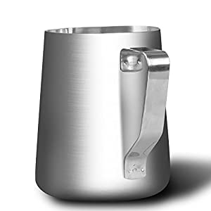 SZUAH Milk Frothing Pitcher, Stainless Steel Frothing Cup with Measurement Inside, Perfect for Latte Art, Espresso Maker, Cappuccino Maker