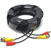 Padarsey Pre-made All-in-One 40M 130Ft BNC Video and Power Cable Wire Cord with Connector for CCTV Security Camera