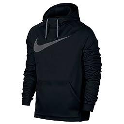 Men\'s Nike Therma Training Hoodie Black/Dark Grey Size X-Large