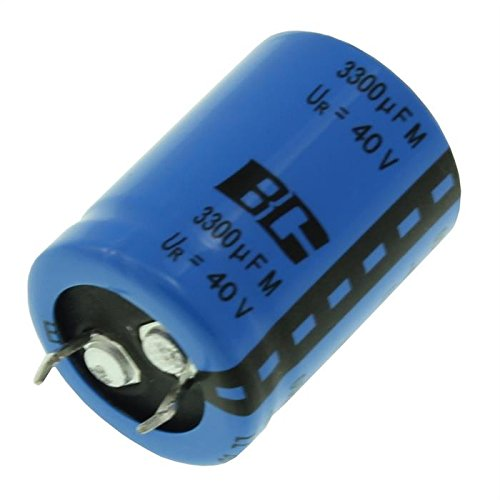 2x Chimique Condensateur 3300/µF 40V 85/°C ; 222205657332 ; 3300uF