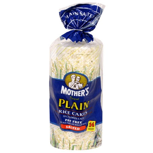 Mothers Plain Salted Rice Cakes, 4.5-Ounce Unit (Pack of 12)