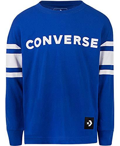 - Converse Big Boys Football Jersey Cotton T-Shirt (Blue, M (12/14))