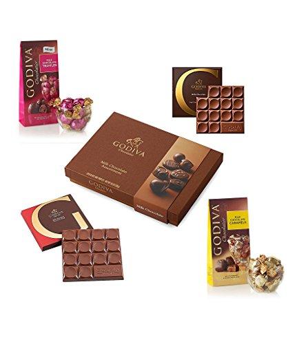 (Godiva Chocolatier Milk Chocolate Lover's Gift Set, Assorted Truffles and Milk Chocolate Bars, Chocolate Truffles, Chocolate Lovers, Assorted Chocolates, Great for Gifting )