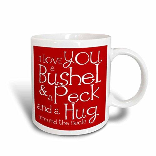 3dRose mug 193475 1 Bushel Ceramic 11 Ounce