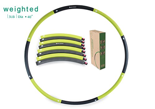 Balance 1 Weighted Hula Hoop 3 lb (Dia.40 inch) Large, 8-Segmented, Green (Adult Hula Hoop 42)