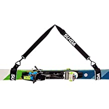 Sukoa Ski Carrier Straps – Shoulder Sling with Cushioned Velcro Holder - Protects Skis and Poles from Scratches and Damage – Downhill and Backcountry Snow Gear and Accessories - Lifetime Guarantee