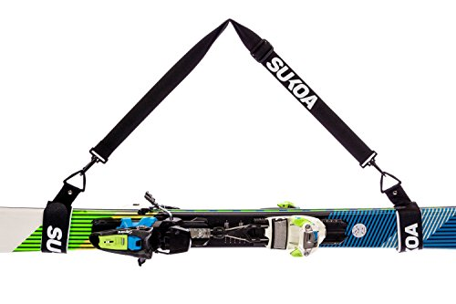 Goggle Repair Kit (Sukoa Ski Carrier Straps – Shoulder Sling with Cushioned Velcro Holder - Protects Skis and Poles from Scratches and Damage – Downhill and Backcountry Snow Gear and Accessories - Lifetime Guarantee)