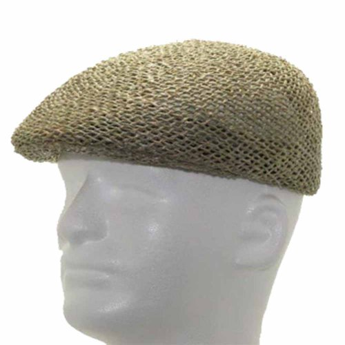 New ASCOT GOLF Vented Panama Straw Hat DRESS CAP 7 3/8