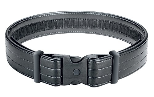 Uncle Mike's Mirage Plain Ultra Duty Belt with Hook and Loop Lining (Large, Black) by Uncle Mike's